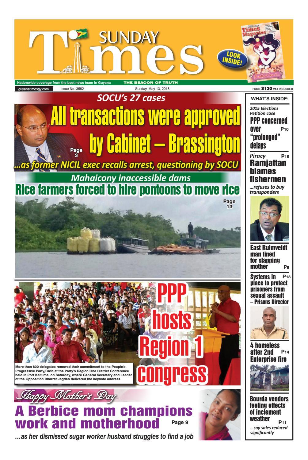 Guyanatime 13 may 2018