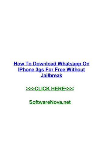 whatsapp download iphone 3gs