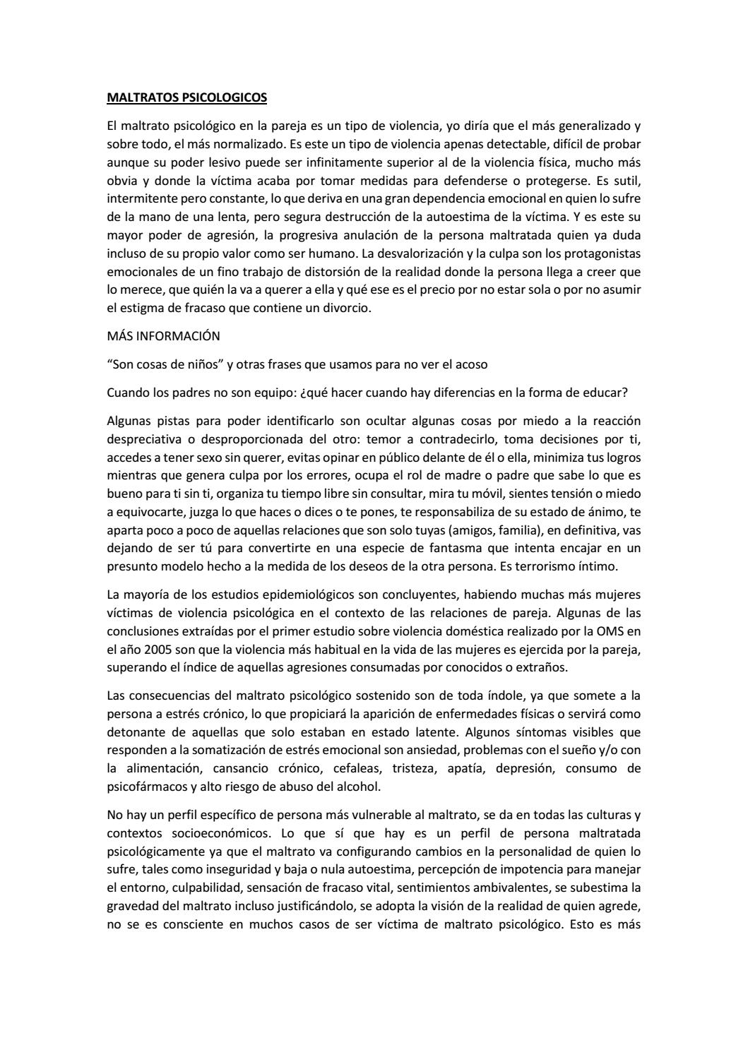 Maltratos Psicologicos By Jhulianasintialoza Issuu