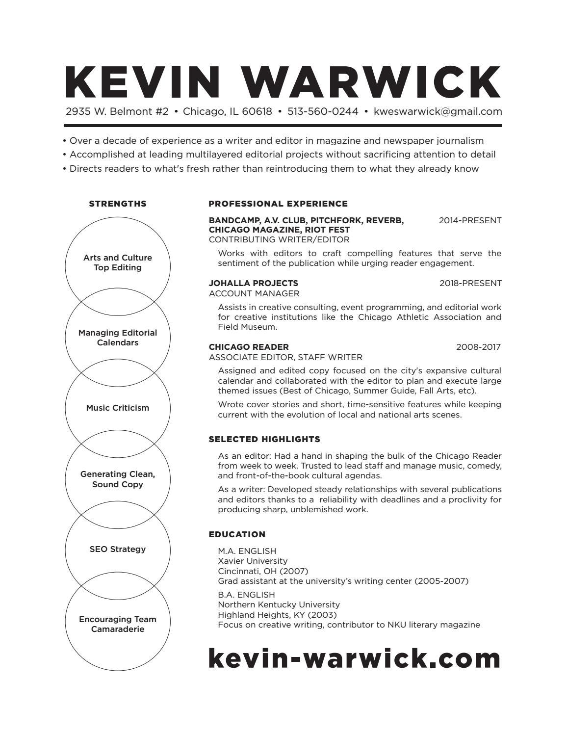 Kevin warwick resume v5b (2) by Kevin Warwick - issuu