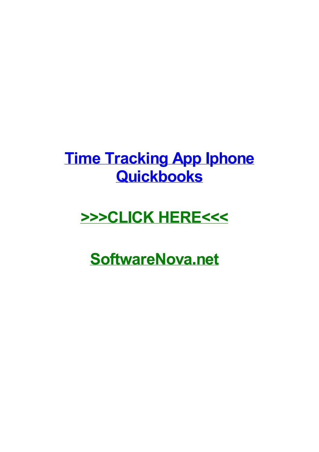 Time tracking app iphone quickbooks by zhangtaoatnc - issuu