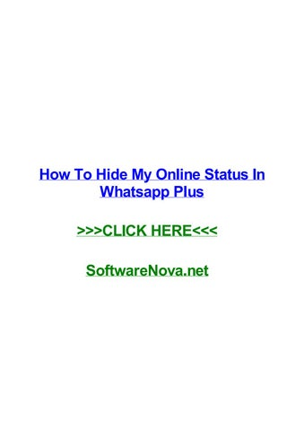 How To Hide My Online Status In Whatsapp Plus By Erinaoyqb
