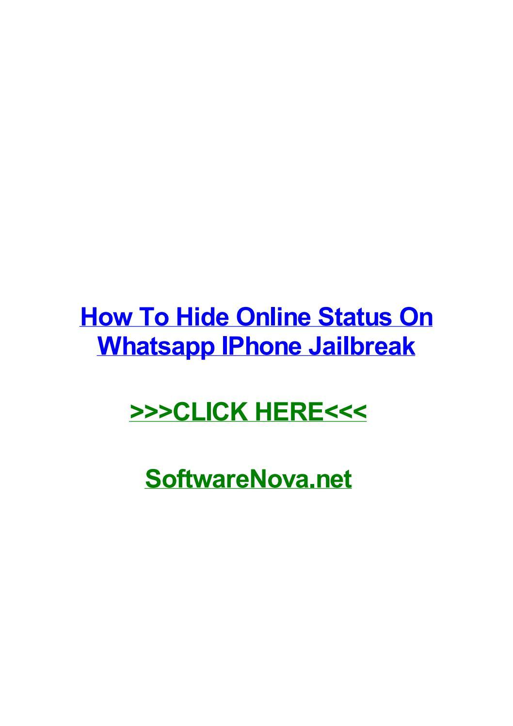 How to hide online status on whatsapp iphone jailbreak by
