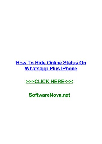 How To Hide Online Status On Whatsapp Plus Iphone By