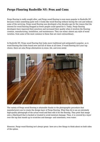 Pergo Flooring Rushville Ny Pros And Cons