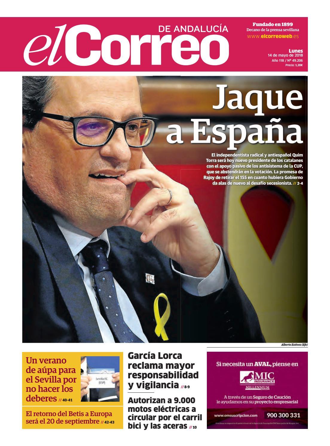 14.05.2018 El Correo de Andalucía by EL CORREO DE ANDALUCÍA S.L. - issuu