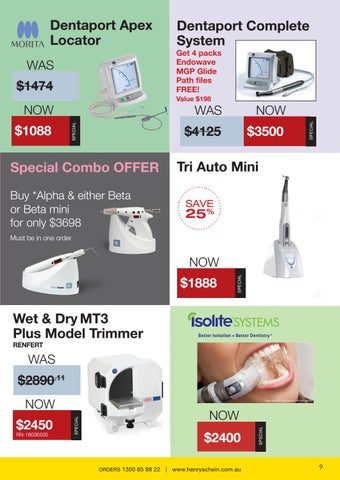 Page 9 of Endodontic products, Model trimmers and Isolation