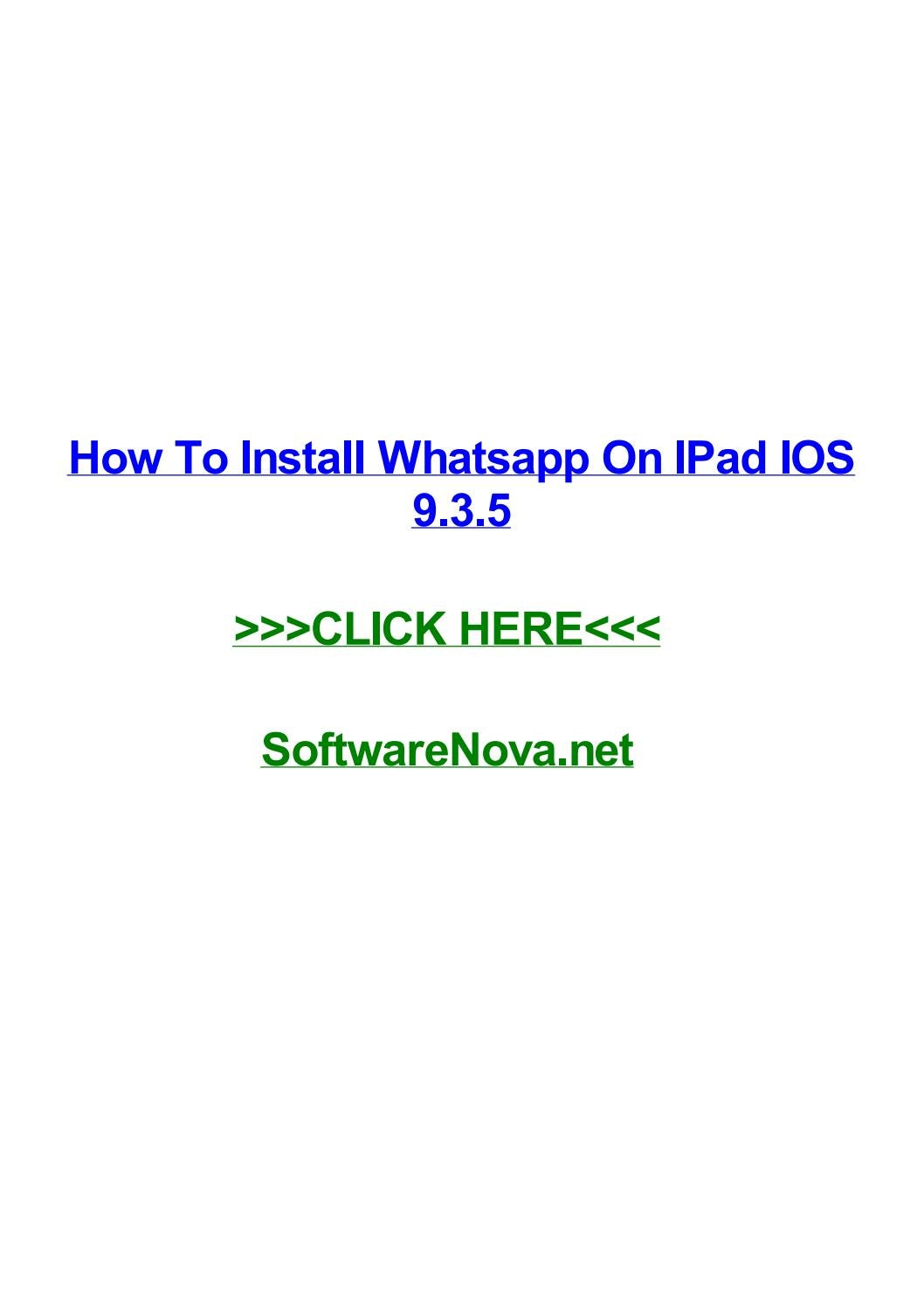 how to install whatsapp on iphone 4s for free