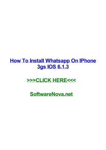 How to instal whatsapp on iphone 3 — photo 2