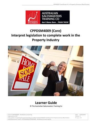 课 cppdsm4009 interpret legislation to complete agency by