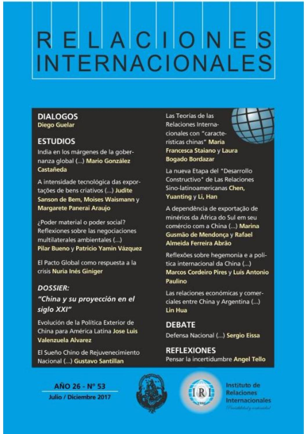 Revista Relaciones Internacionales By Instituto De