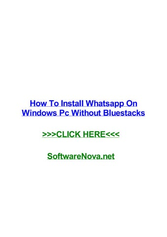 whatsapp for pc without bluestacks free download