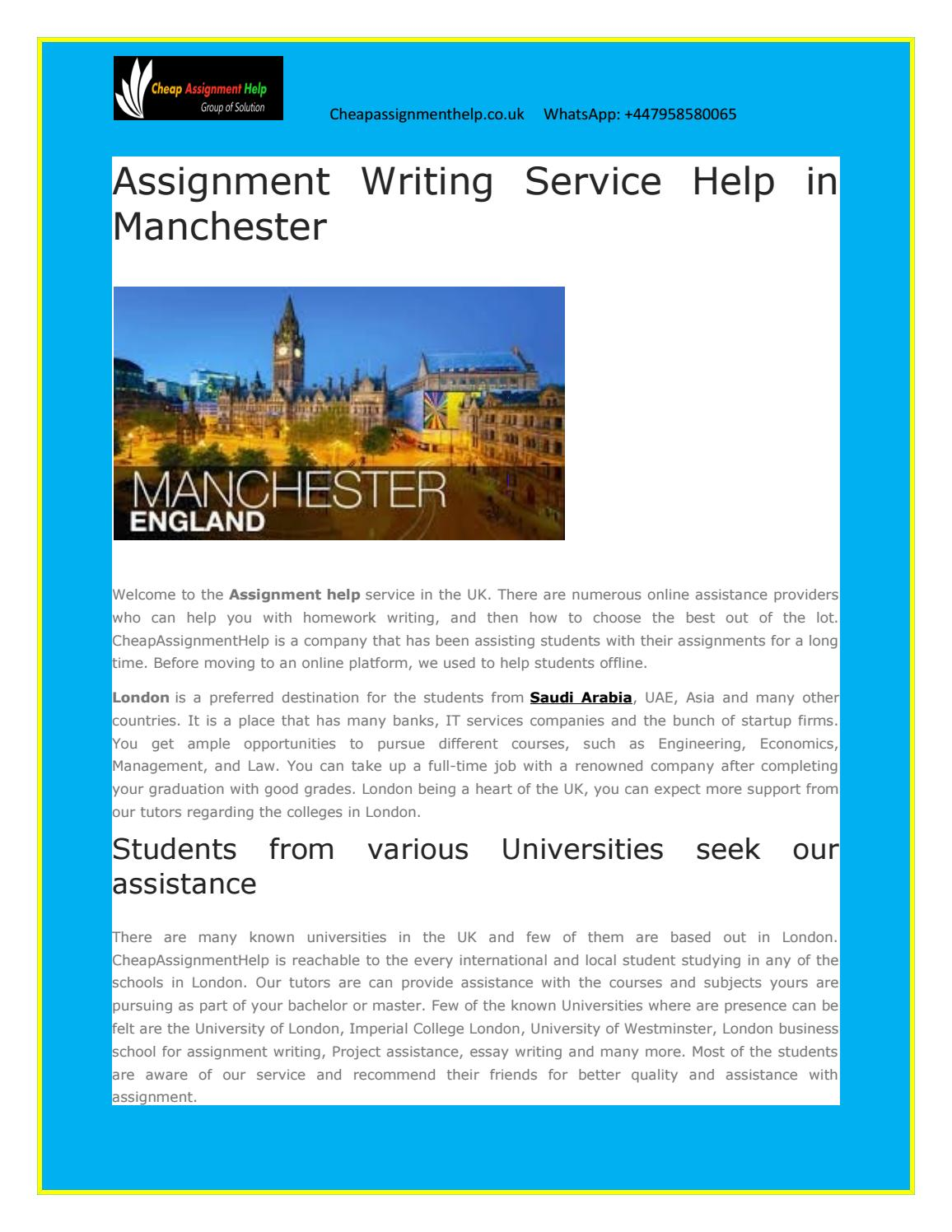 Assignment Writing Service Help In Manchester By Aslia Smith  Issuu