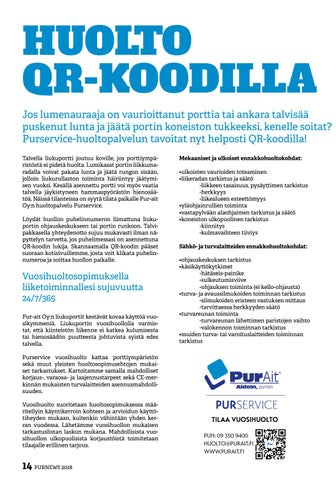 Page 14 of Huolto QR-koodilla