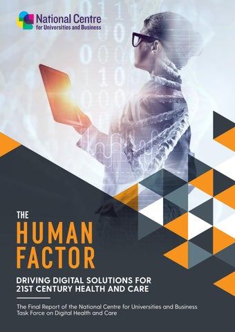 The Human Factor: Driving Digital Solutions for 21st Century Health