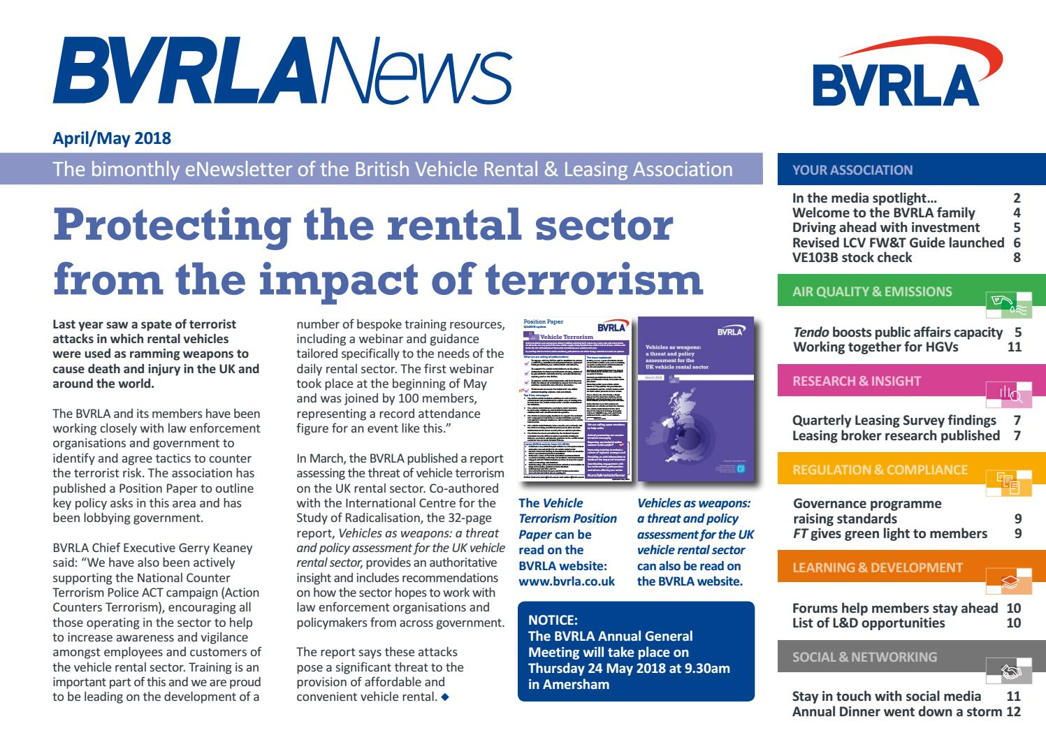 BVRLA News April/May 2018 by BVRLA - issuu