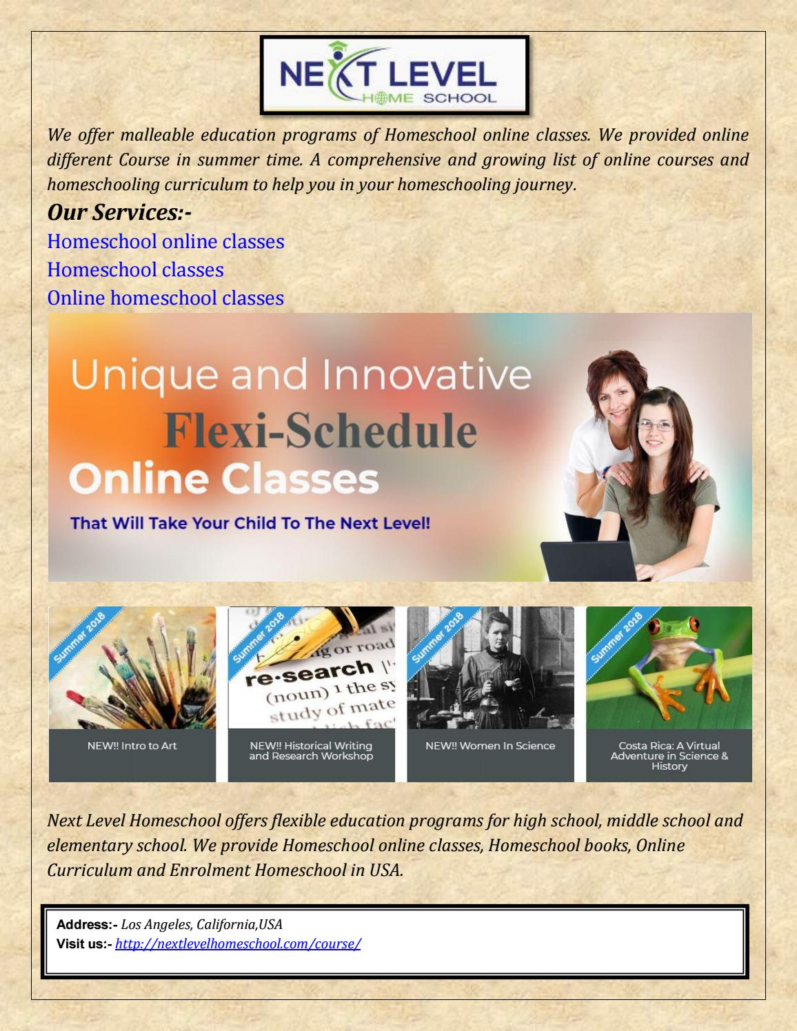 Course homeschool online classes science and math homeschool
