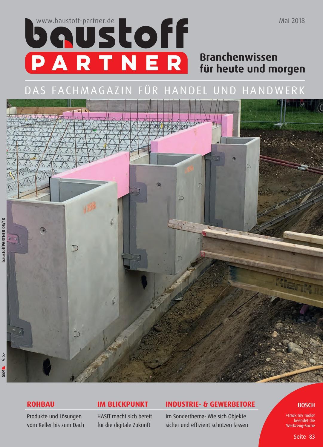 baustoffPARTNER Mai 2018 by SBM Verlag GmbH - issuu