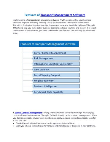 Features of transport management software by Cargo365Cloud - issuu