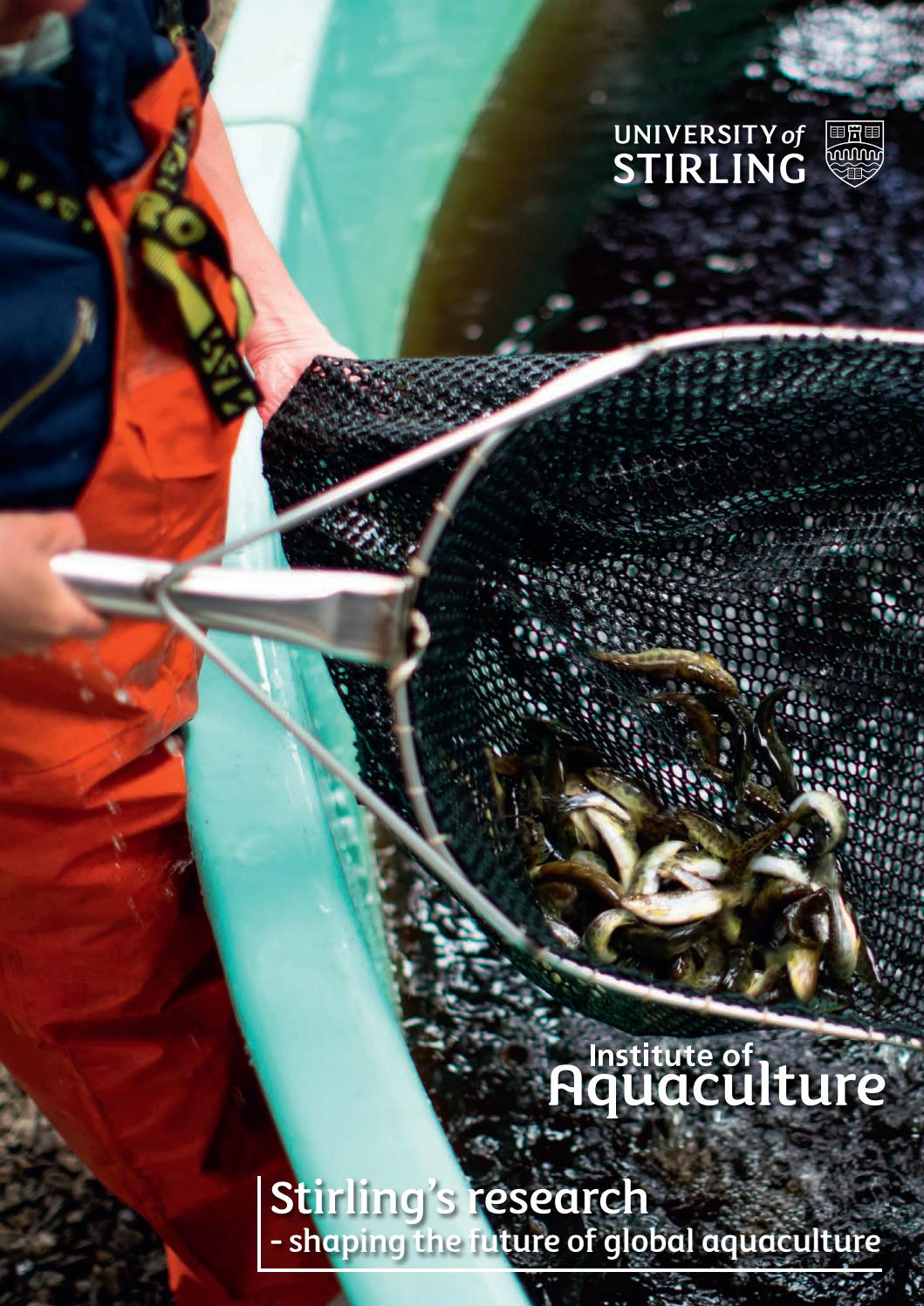 Institute of Aquaculture Special May 2018 by Fish Farmer Magazine - issuu