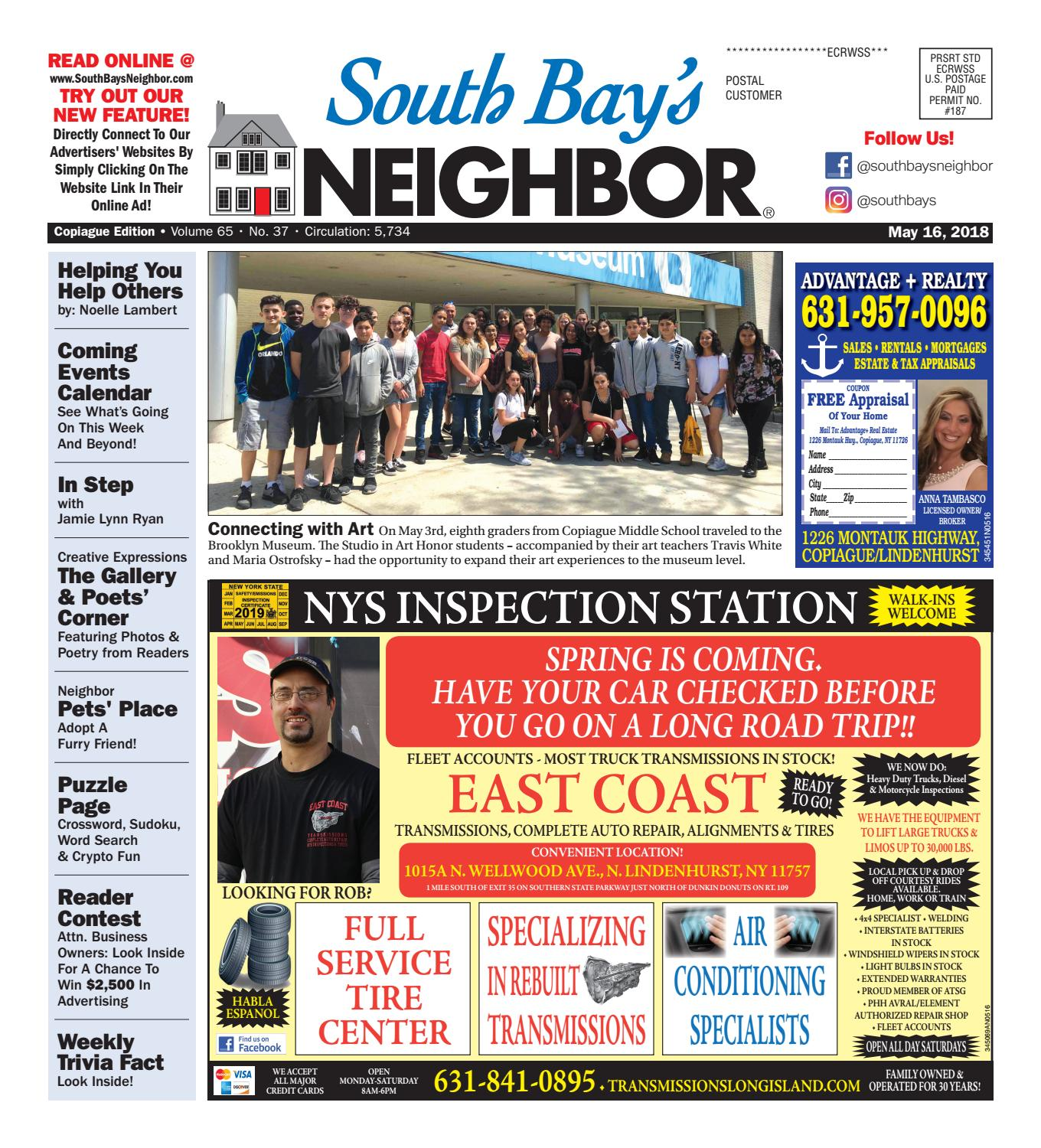 May 16th, 2018 Copiague by South Bay's Neighbor Newspapers