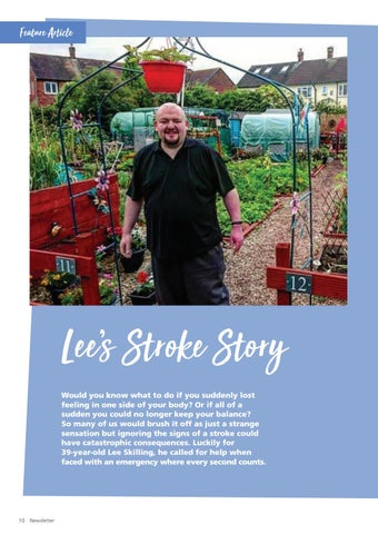 Page 10 of Lee's stroke story