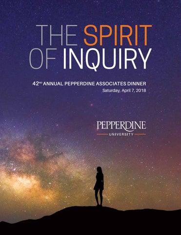 Pepperdine Associates Dinner Program 2018 By Pepperdine University