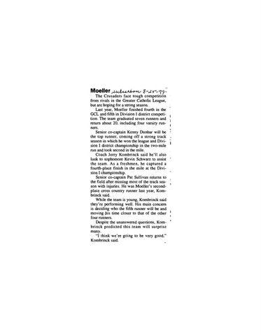 6edc5748a1f Moeller High School 1999-2000 Football Articles by Archbishop Moeller High  School - issuu