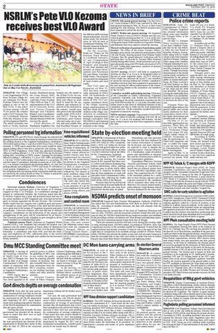 May 15, 2018 by Nagaland Post - issuu