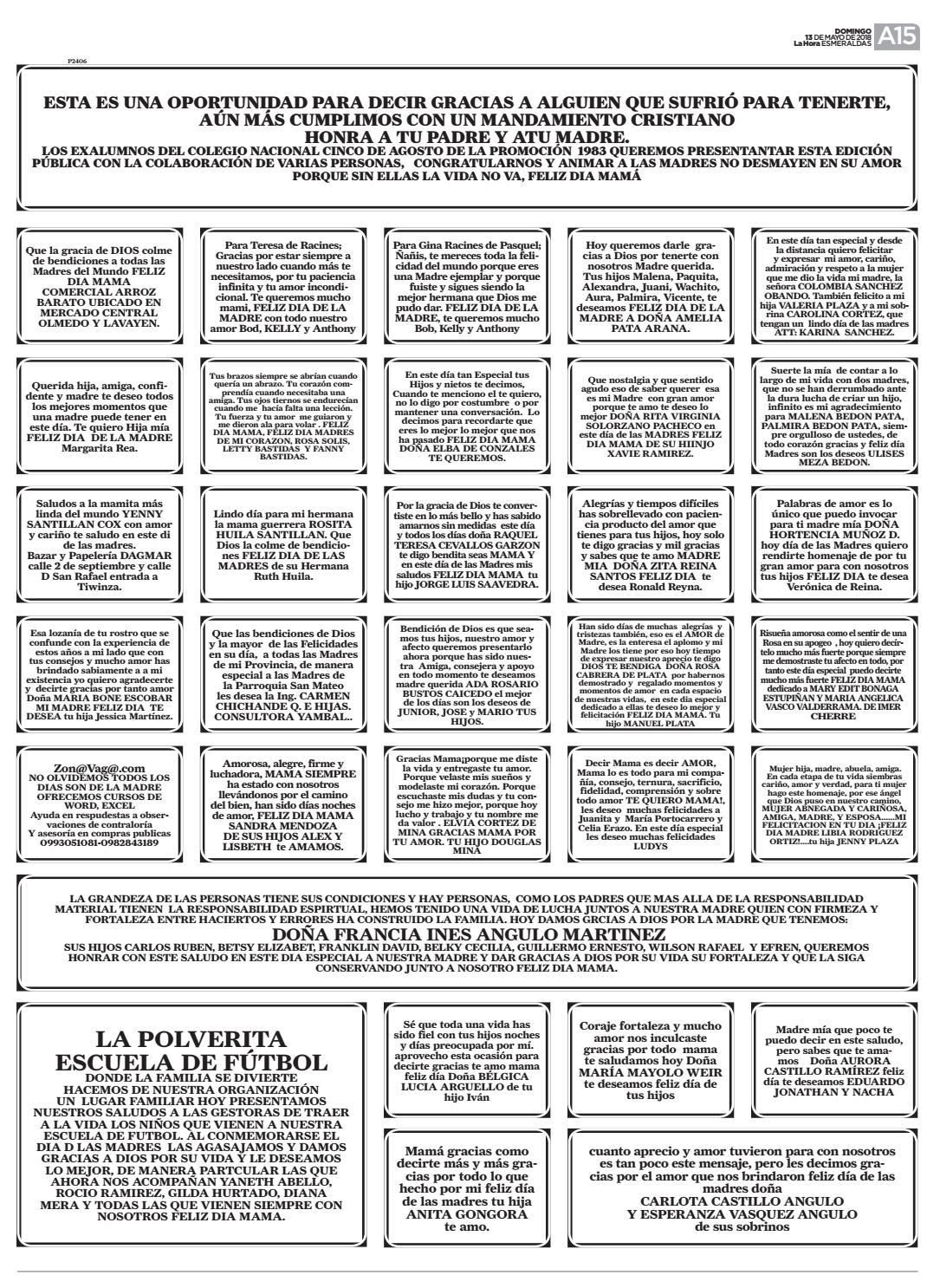 Esmeraldas 13 De Mayo Del 2018 By Diario La Hora Ecuador Issuu