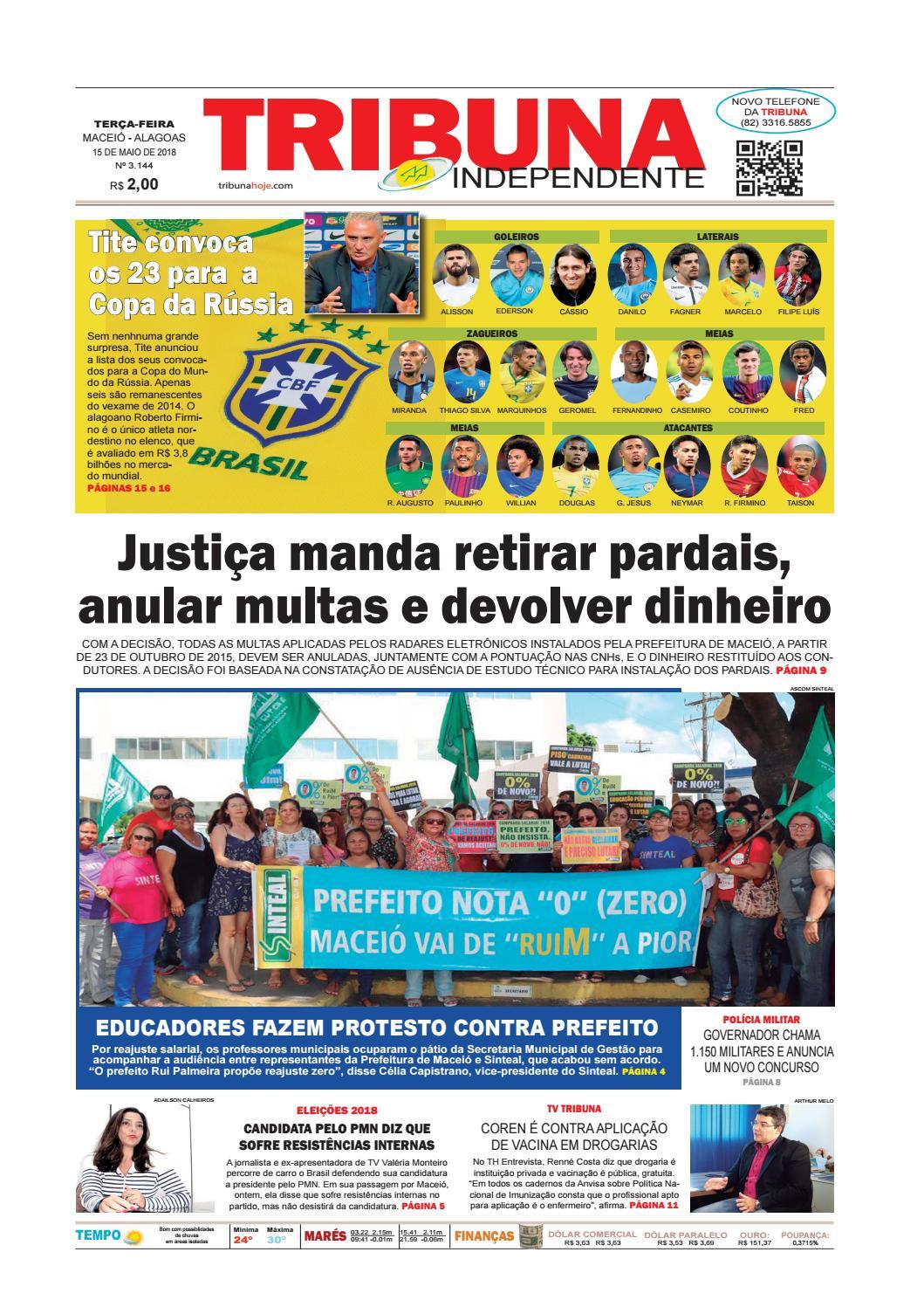 e4767640b1794 Edição número 3144 - 15 de maio de 2018 by Tribuna Hoje - issuu
