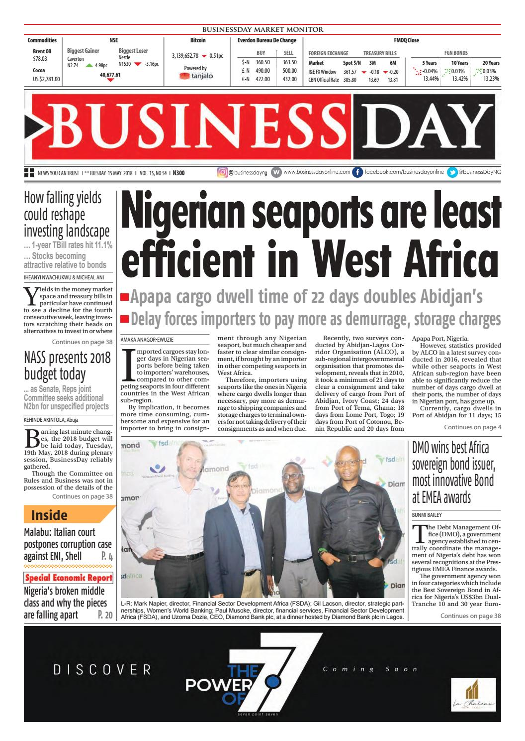 Businessday 15 may 2018 by BusinessDay - issuu