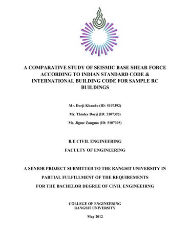 A Comparative Study of Seismic Base Shear Force According to IS Code