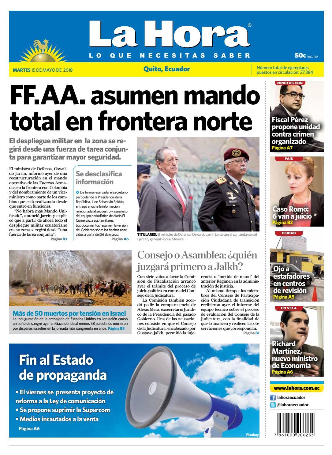 Quito 15 de mayo de 2018 by Diario La Hora Ecuador - issuu