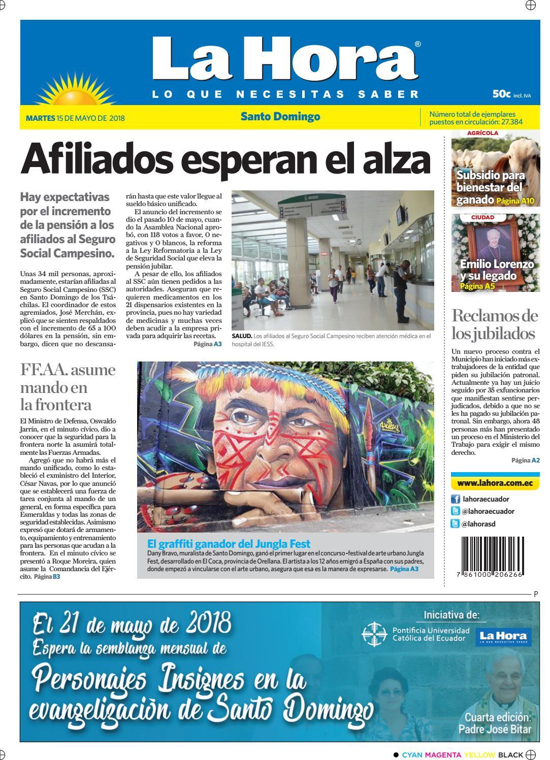 Santo Domingo 15 de mayo de 2018 by Diario La Hora Ecuador - issuu 55534b01c9143