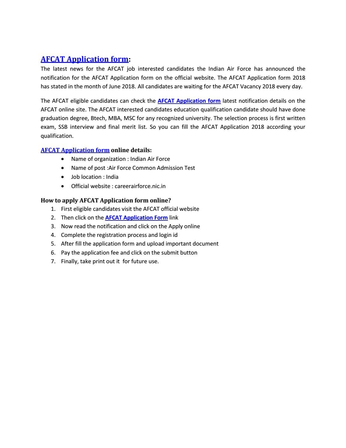 Afcat application form by sahuri choudhary - issuu