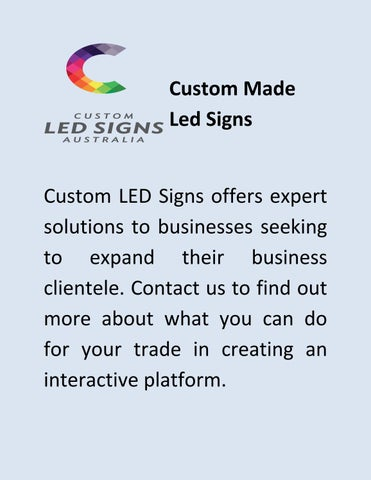 Led Digital Signage - Customled Signs by customled signs - issuu