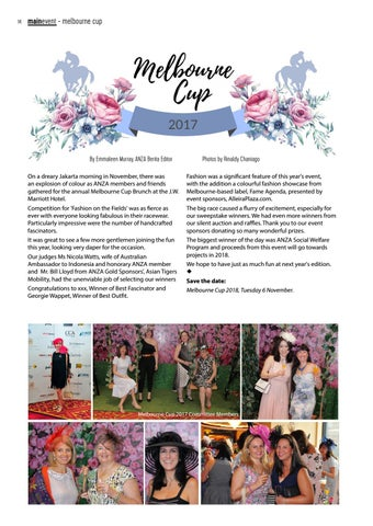 Page 14 of ANZA Melbourne Cup Brunch 2017