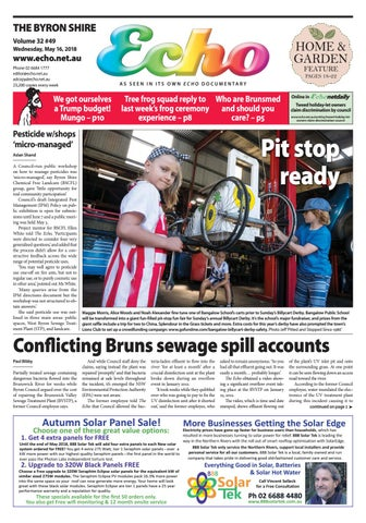 The Byron Shire Echo Issue 3249 May 16 2018 By Echo