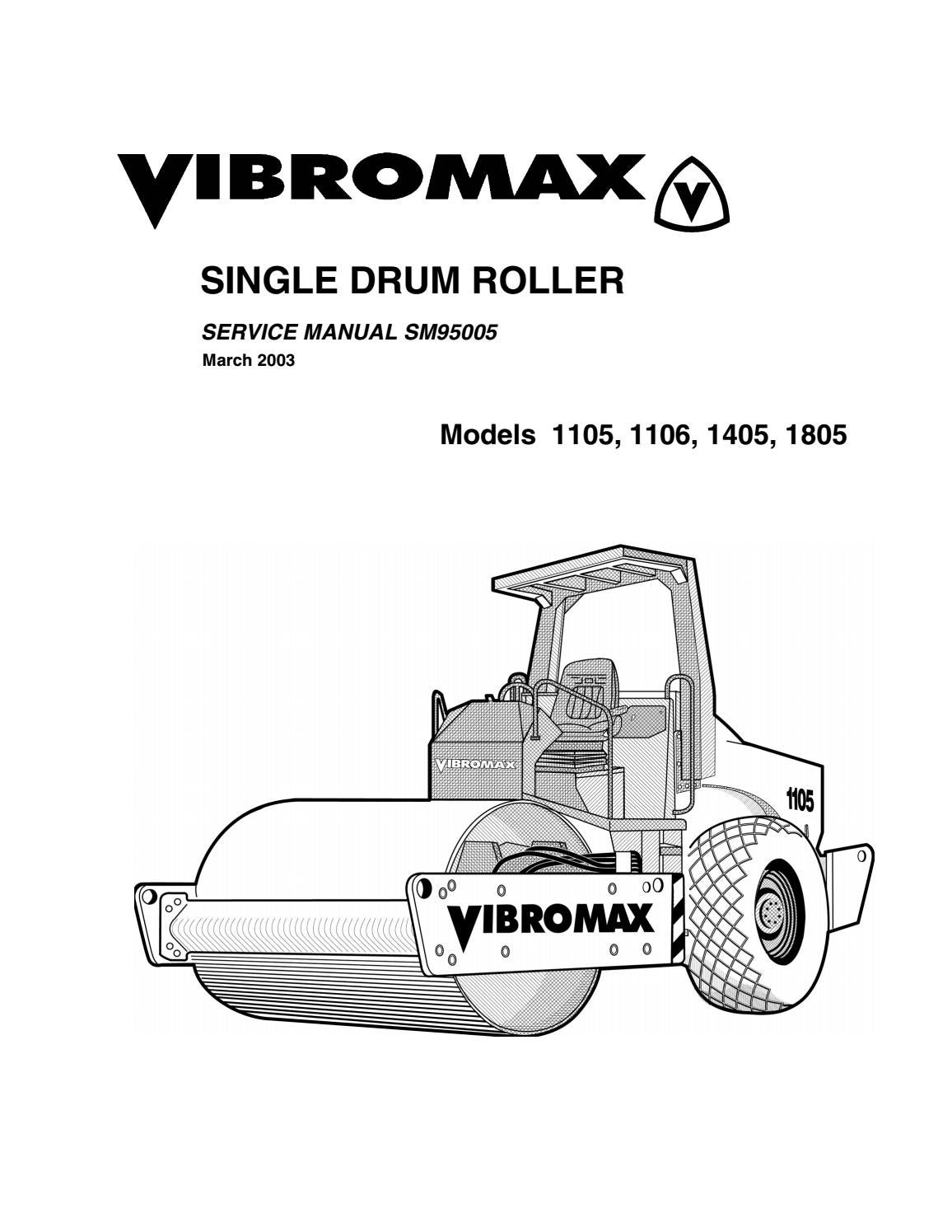 Jcb vibromax 1105 single drum roller service repair manual