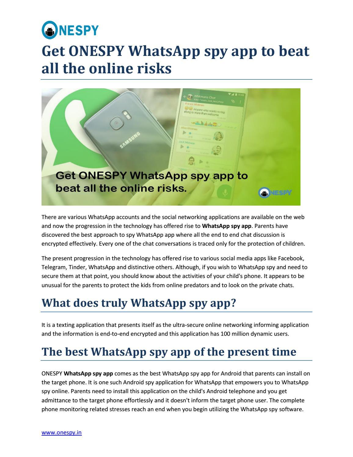 Whatsapp spy app blog 09 05 18 by Krishna Yadav - issuu