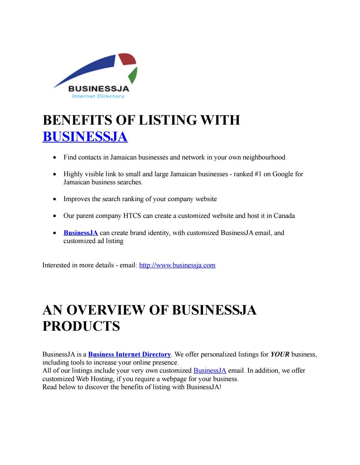 Find Jamaican Yellow Page- Businessja by business ja - issuu