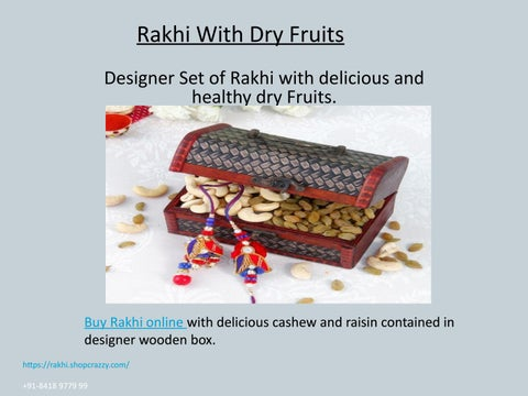 Page 2 of Rakhi with dry fruits