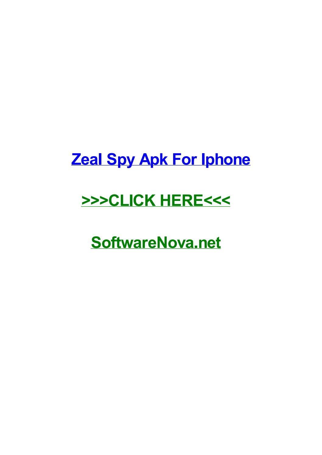 SPY TÉLÉCHARGER IPHONE ZEAL