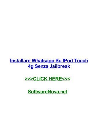 can you get whatsapp on ipod
