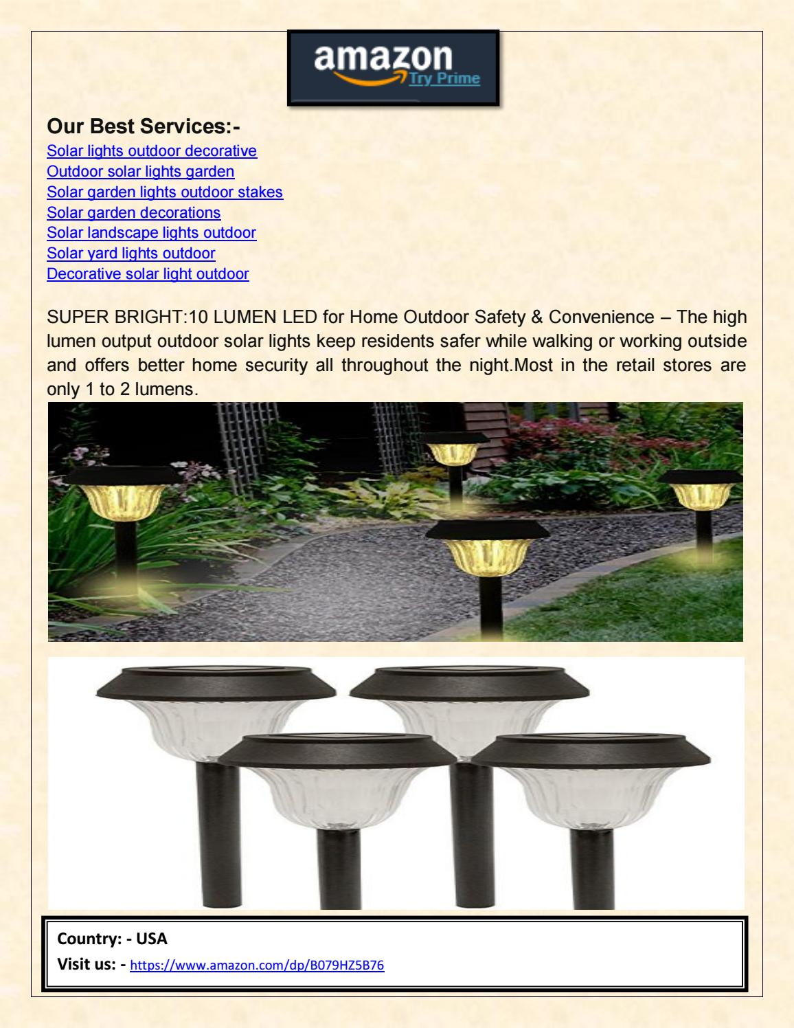 Sogrand Solar Lights Outdoor Pathway Decorative Garden Stake Light Upgraded Warm White Led By Federy Shory Issuu