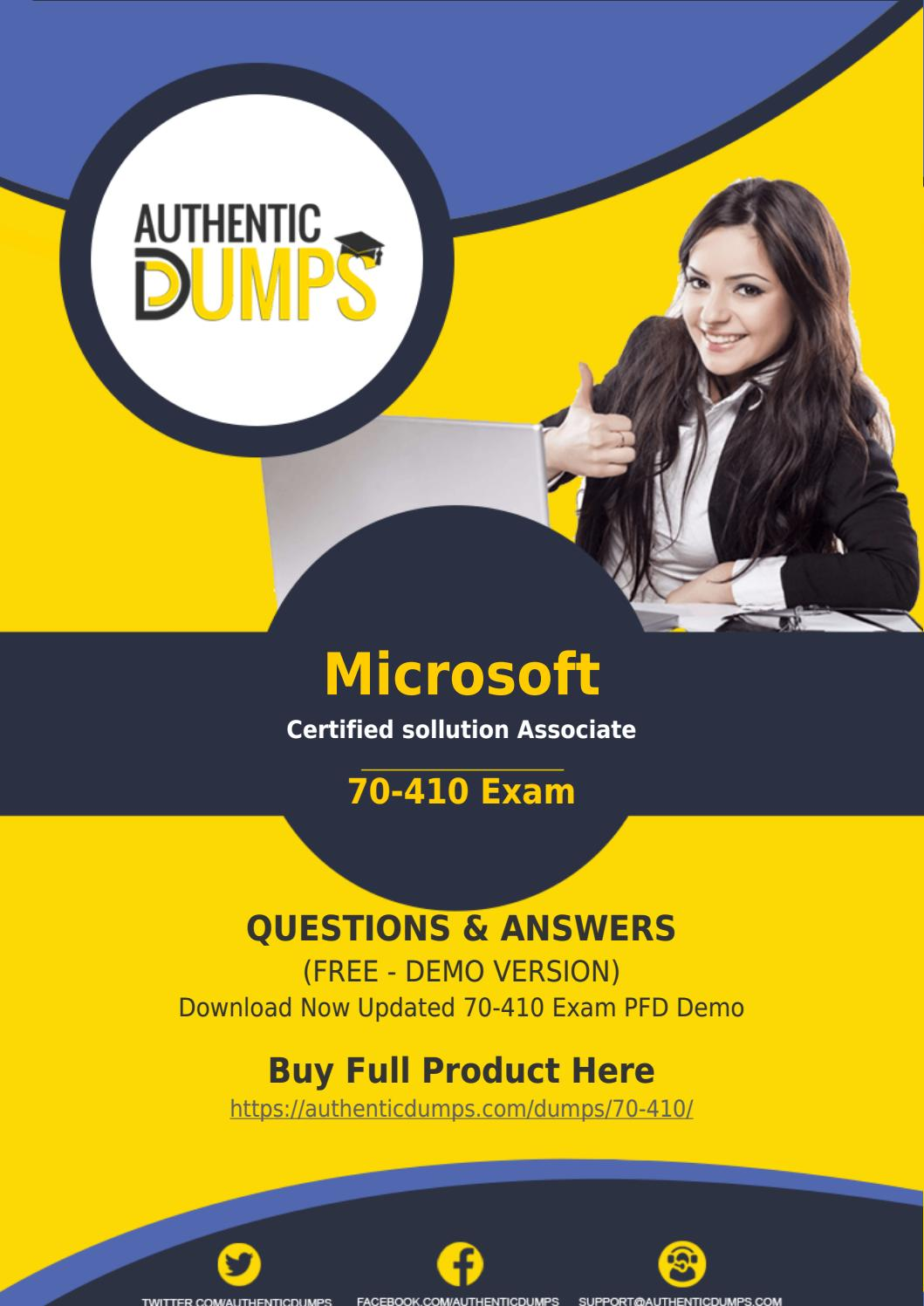 70 410 Exam Dumps Download Updated Microsoft 70 410 Exam Questions