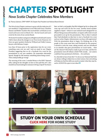Page 6 of Spotlight: REIC Nova Scotia Chapter