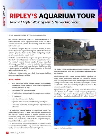 Page 8 of Spotlight:  REIC Toronto Aquarium Tour