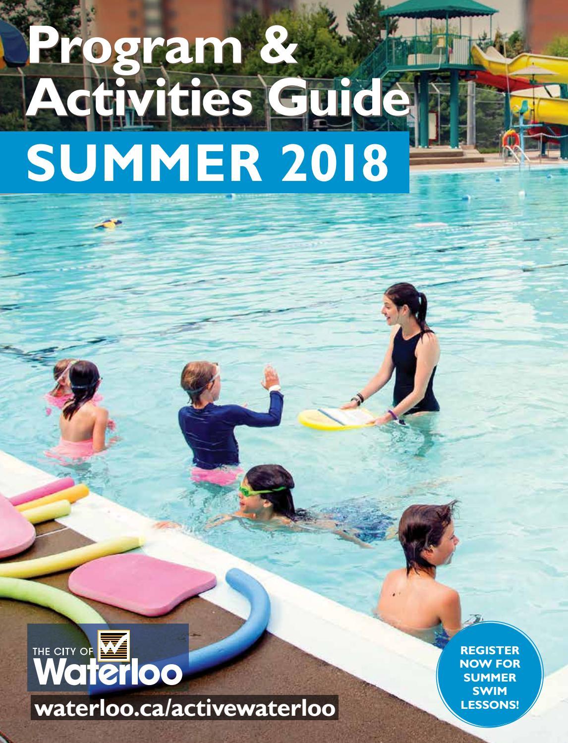 Summer 2018 Program & Activities Guide by City of Waterloo - issuu